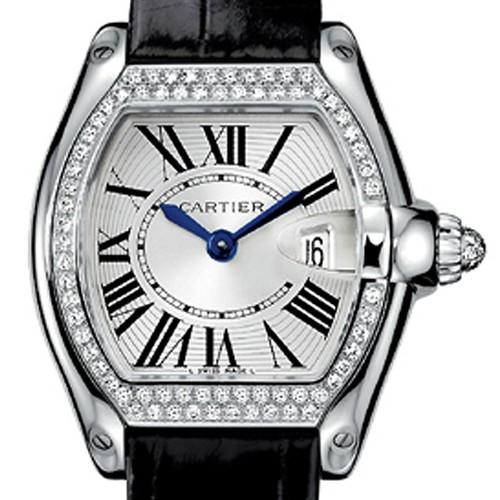 Cartier Roadster Ladies (WG - Diamonds / Silver / Croc Leather)