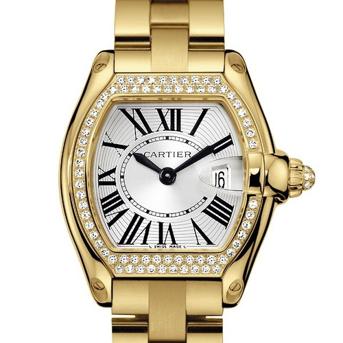 Cartier Roadster Ladies (YG - Diamonds / Silver / YG)