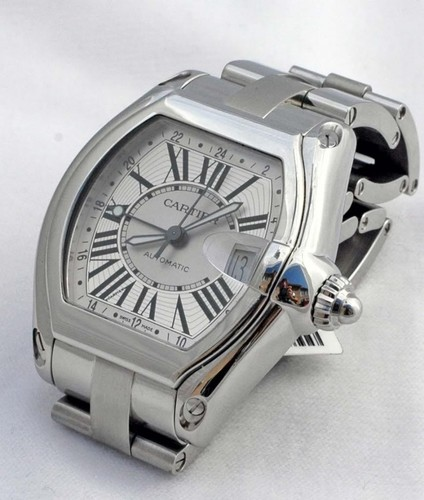 Cartier Roadster Two Time Zone Extra Large (SS/ Silver/ SS)