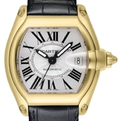 Cartier Roadster (YG / Silver / Croc Leather)