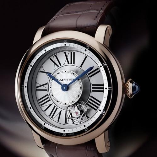 Cartier Rotonde Astrotourbillon (RG/ Silver / Leather)