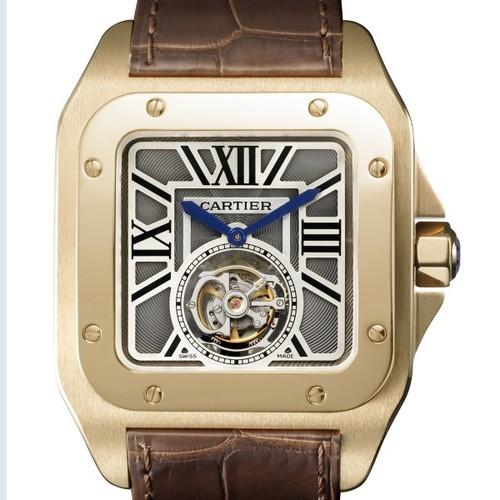 Cartier Santos 100 Flying Tourbillon (RG / RG / Leather)