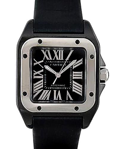 Cartier Santos 100 Medium (Titanium / Black / Rubber)