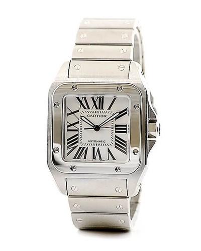 Cartier Santos 100 (SS / Silver / SS)