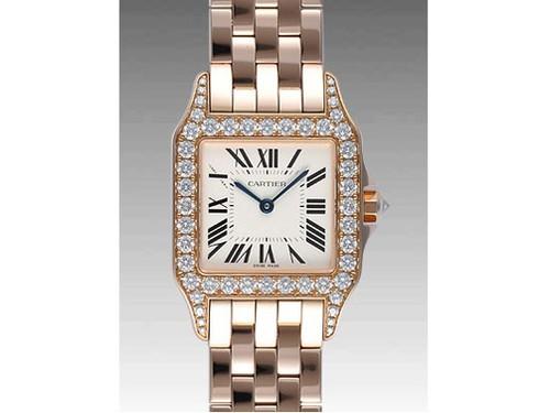 Cartier Santos Demoiselle Medium (RG - Diamonds/ Silver / RG)