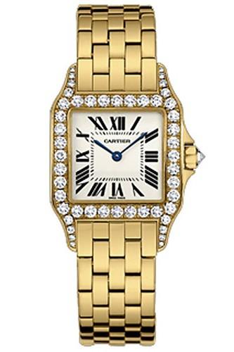 Cartier Santos Demoiselle Medium (YG - Diamonds/ Silver / YG)