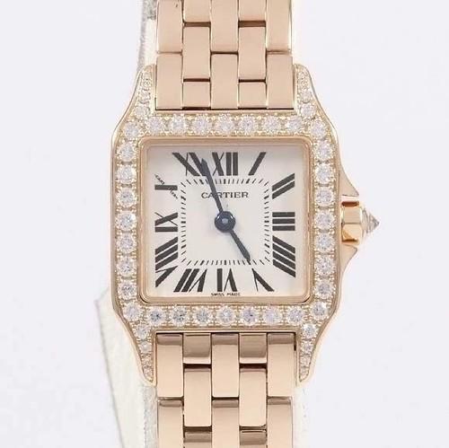 Cartier Santos Demoiselle (RG - Diamonds/ Silver / RG)