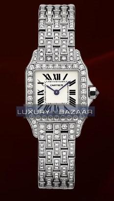 Cartier Santos Demoiselle Small (WG-Diamonds/ Silver/WG-Diamonds)