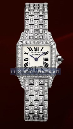 Cartier Santos Demoiselle Small (WG-Diamonds/ Silver/WG-Diamonds)