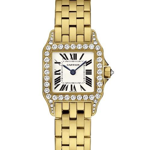 Cartier Santos Demoiselle (YG - Diamonds/ Silver / YG)