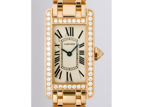 Cartier Tank Americaine Ladies (RG - Diamonds / Silver / RG )