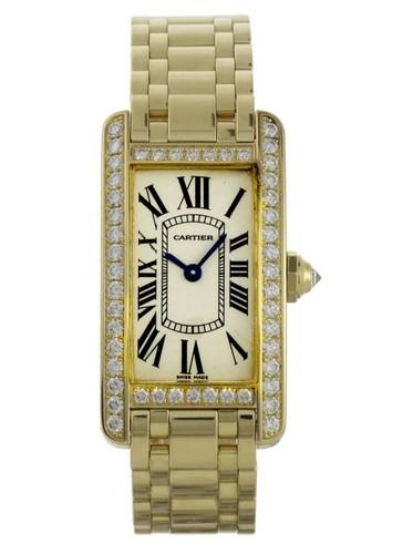 Cartier Tank Americaine Ladies (YG - Diamonds / Silver / YG )