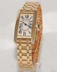 Cartier Tank Americaine Ladies (YG / Silver / YG )