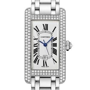 Cartier Tank Americane Medium (WG- Diamonds / Silver/ WG)