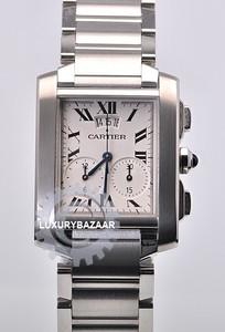 Cartier Tank Francaise Chronograph Gents (SS / Beige / SS Bracelet)