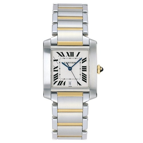 Cartier Tank Francaise Large (SS/ Silver /SS - YG)