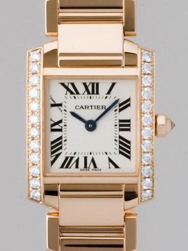 Cartier Tank Francaise (RG - Diamonds / Silver / RG )