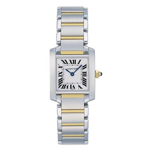 Cartier Tank Francaise (SS/ Silver /SS -YG)