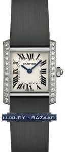 Cartier Tank Francaise (WG-Diamonds / Silver / Satin )