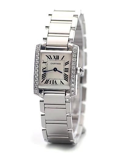 Cartier Tank Francaise (WG - Diamonds / Silver / WG )