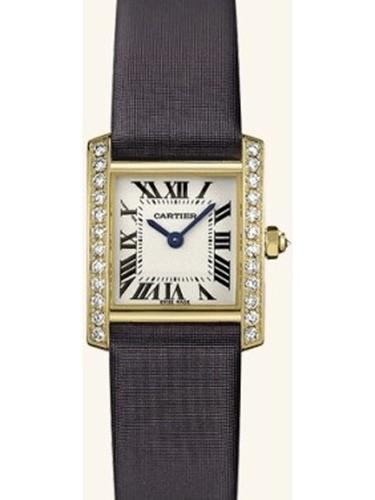 Cartier Tank Francaise (YG-Diamonds / Silver / Satin )