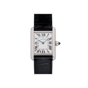 Cartier Tank Louis Ladies (WG / Silver /Croc Leather)