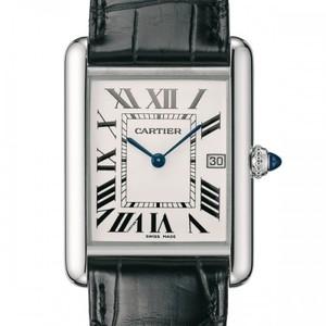 Cartier Tank Louis (WG / Silver /Croc Leather)