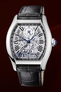 Cartier Tortue Perpetual Calendar (WG/ Silver/ Leather)