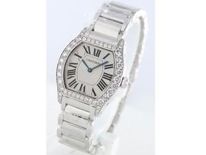 Cartier Tortue Small (WG- Diamonds/ Silver / WG)