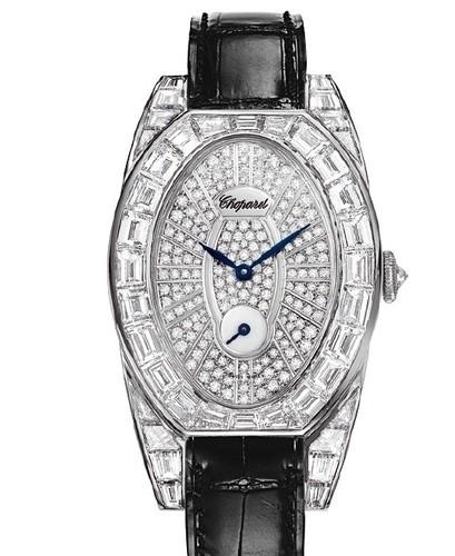 Chopard Classic Oval Set (WG-Baguettes / Diamonds / Leather) 137142-1001