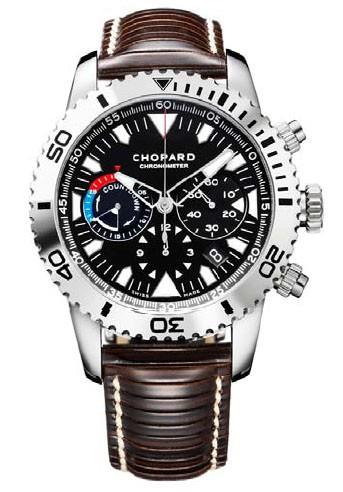 Chopard Classic Racing Chrono Countdown (SS / Black / Leather) 168463-3001