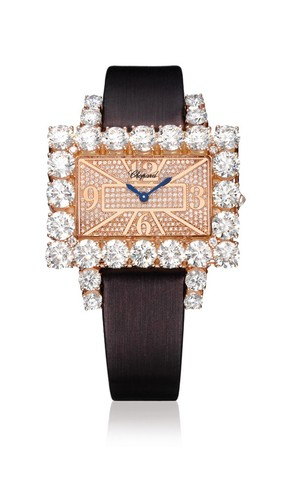 Chopard Classic Rectangle (RG / Rose / Diamonds / Satin) 139270-5011