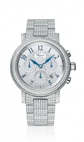 Chopard Elton John Chronograph (WG / White-Diamonds / Diamond Bracelet) 141868-1001