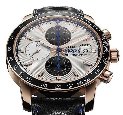 Chopard Grand Prix De Monaco Historique Chronograph (RG / Champagne / Leather) 161275-5003