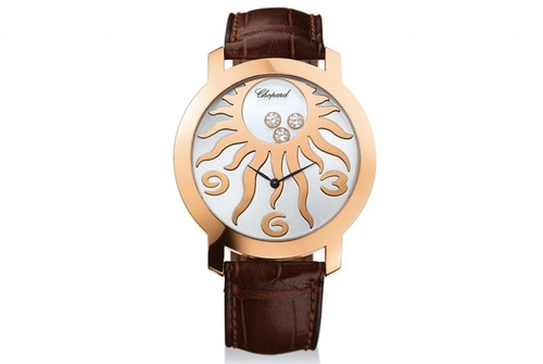 Chopard Happy Diamonds Happy Sun (RG / Gold / Leather) 207469-5001
