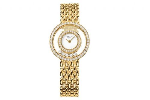 Chopard Happy Diamonds Round 5 Diamonds (YG / White / Bracelet) 205691-0001