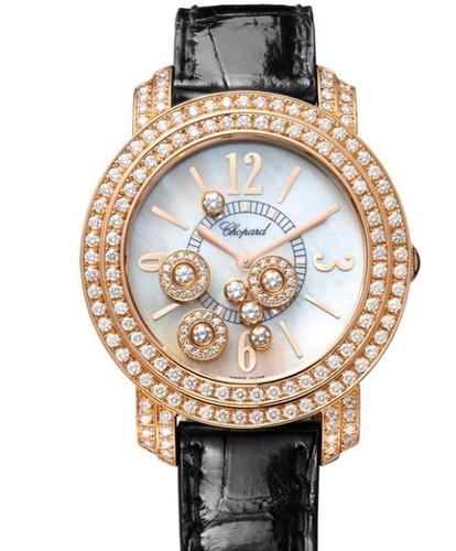 Chopard Happy Diamonds Round 7 Diamonds (RG / MOP / Leather) 209274-5001