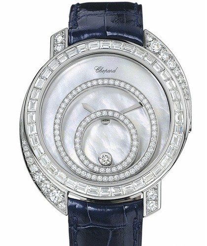 Chopard Happy Spirit (WG-Baguettes / MOP / Leather) 207478-1001
