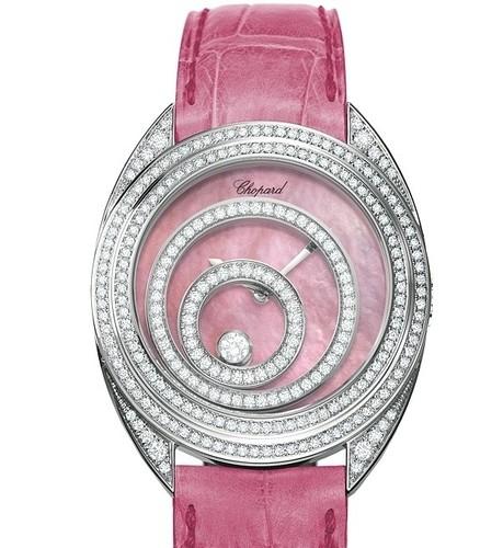Chopard Happy Spirit (WG-Diamonds / Pink MOP / Leather) 207061-1001