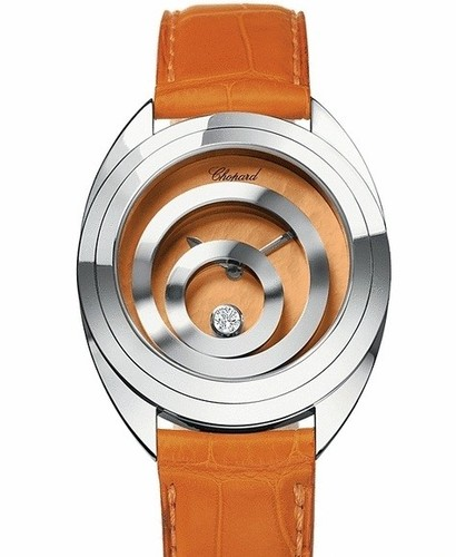 Chopard Happy Spirit (WG / Orange / Leather) 207060-1001