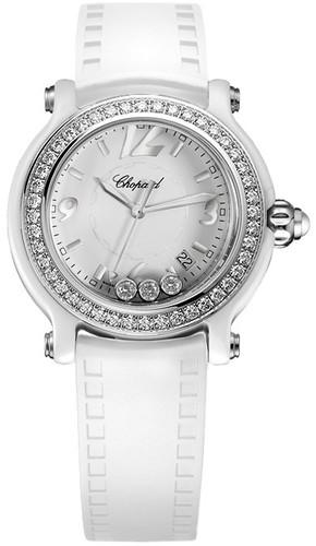 Chopard Happy Sport Ceramic Ladies Watch 288507-9012