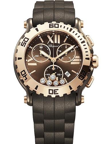 Chopard Happy Sport Chrono (PG-Ceramic / 5 Diamonds) 288515-9003