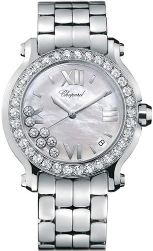Chopard Happy Sport II Round (WG-SS-Diamonds / MOP-Diamonds / SS Bracelet) 278478-2002