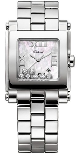 Chopard Happy Sport II Square Medium (SS / MOP-Diamonds / SS Bracelet) 278496-3002