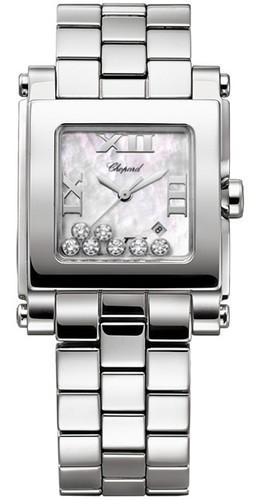 Chopard Happy Sport II Square Medium (SS / MOP-Diamonds / SS Bracelet) 278496-3002