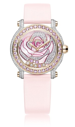 Chopard Happy Sport La Vie En Rose (RG-WG-Diamonds / MOP-Gemstones / Strap) 277480-9001