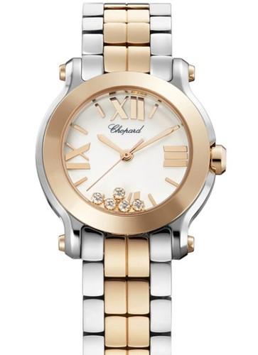 Chopard Happy Sport Mini 5 Diamonds (RG / SS / White / Diamonds / Bracelet) 278509-6003