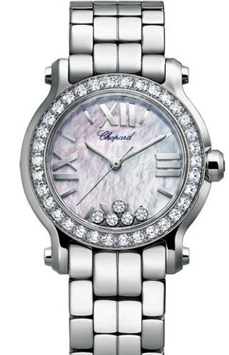Chopard Happy Sport Mini 5 Diamonds (SS / MOP / Diamonds / Bracelet) 278509-3010