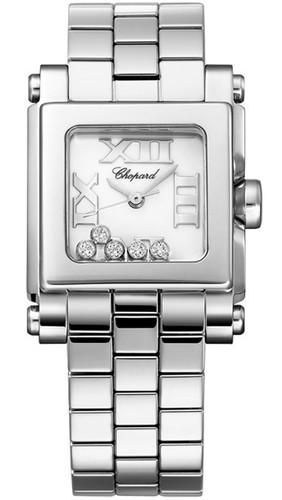 Chopard Happy Sport Mini Square (SS / MOP / Diamonds) 278516-3002