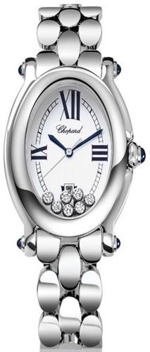 Chopard Happy Sport Oval 7 Diamonds (SS / Silver / SS) 278418-3002